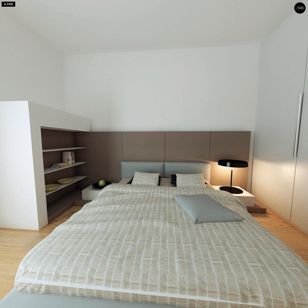 Современный комфортабельный одноэтажный дом с функциональным интерьером и уютной террасой. 13
