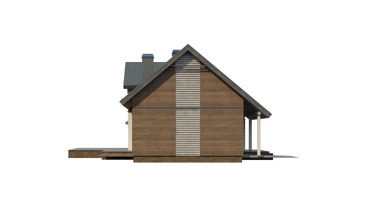 Удобный и красивый дом с красивым окном во фронтоне. 24