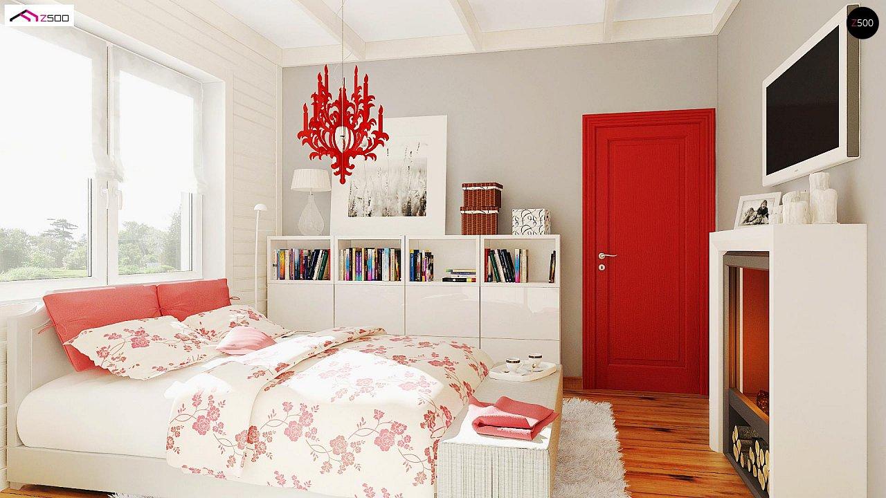 Одноэтажный удобный дом с фронтальным гаражом, с возможностью обустройства мансарды. - фото 12