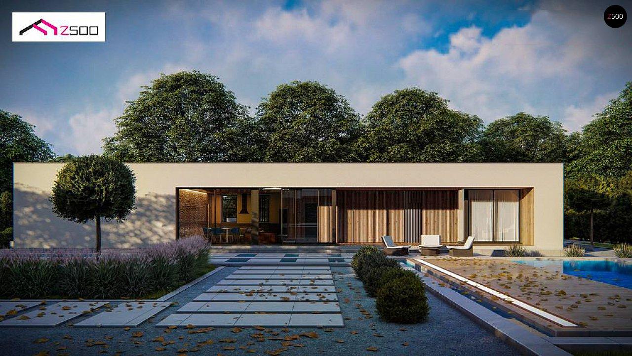 Одноэтажный современный дом с плоской крышей 3