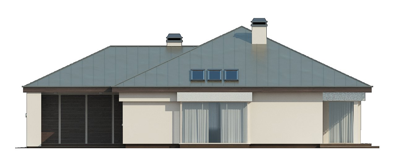 Вариант проекта Z200 с кирпичной облицовкой фасадов. 28