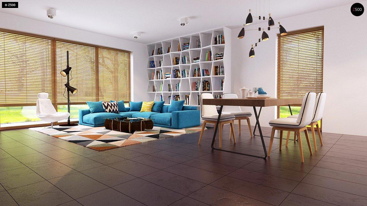 Одноэтажный дом исключительного современного дизайна. - фото 16
