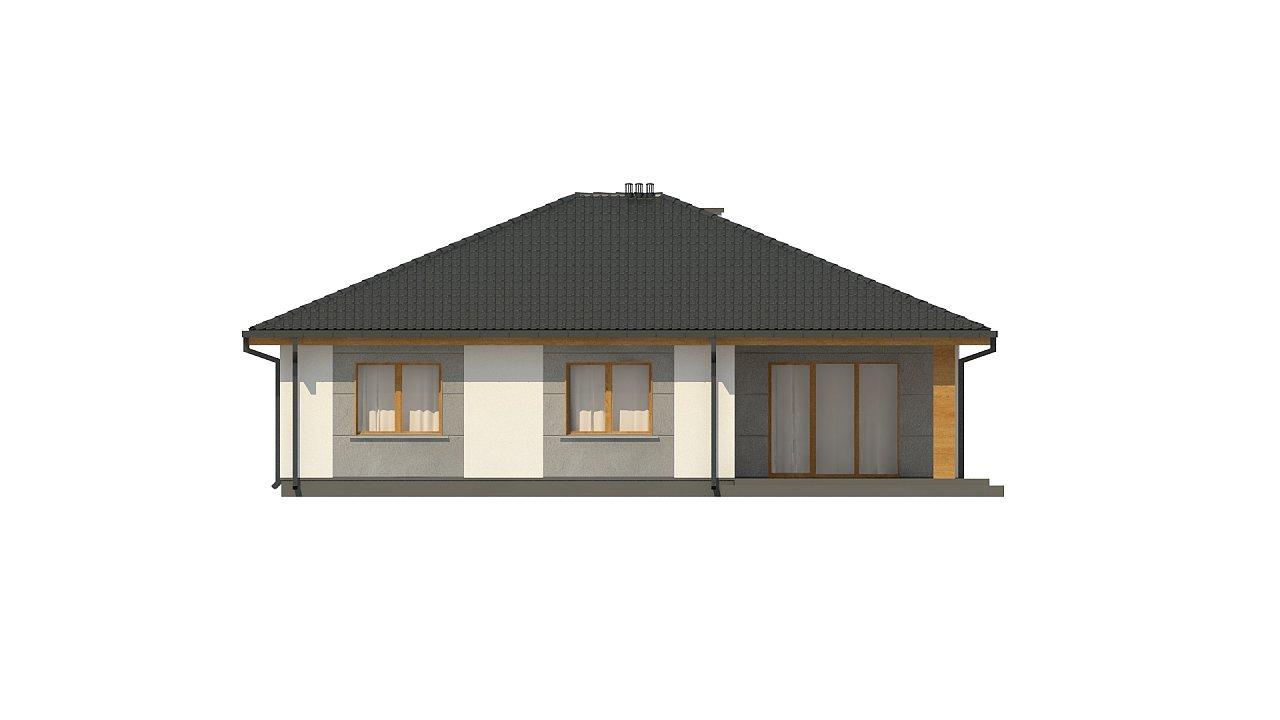 Одноэтажный коттедж с четырьмя спальнями - фото 20