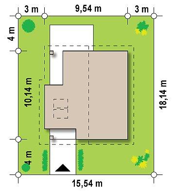 Проект аккуратного и удобного дома с мансардой. план помещений 1