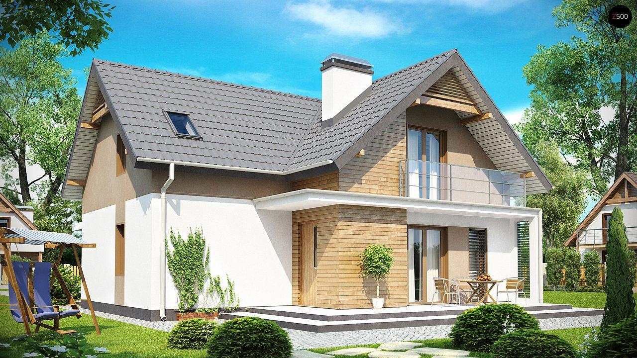 Проект удобного функционального дома с мансардой и гаражом  2