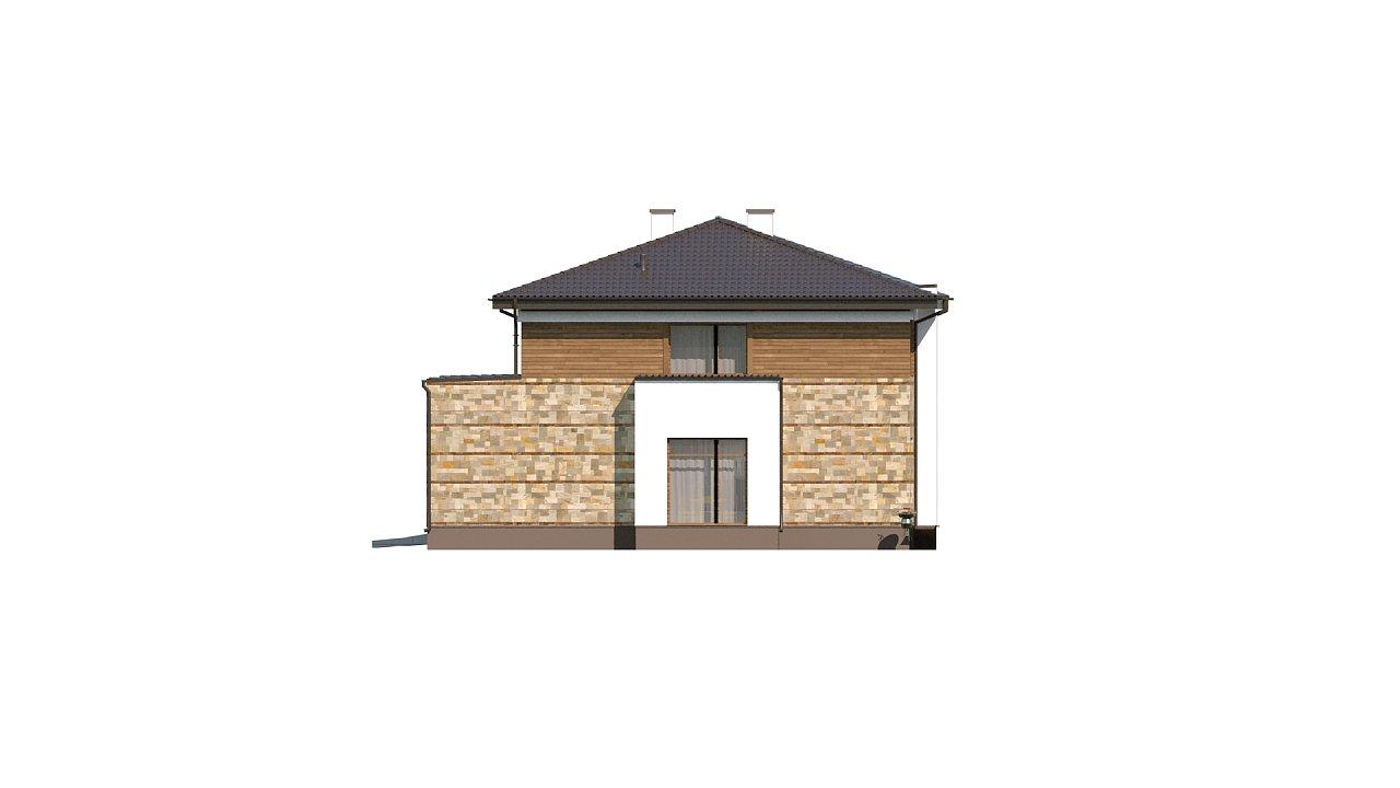 Проект двухэтажного дома с гаражом для двух авто, с баней - фото 10