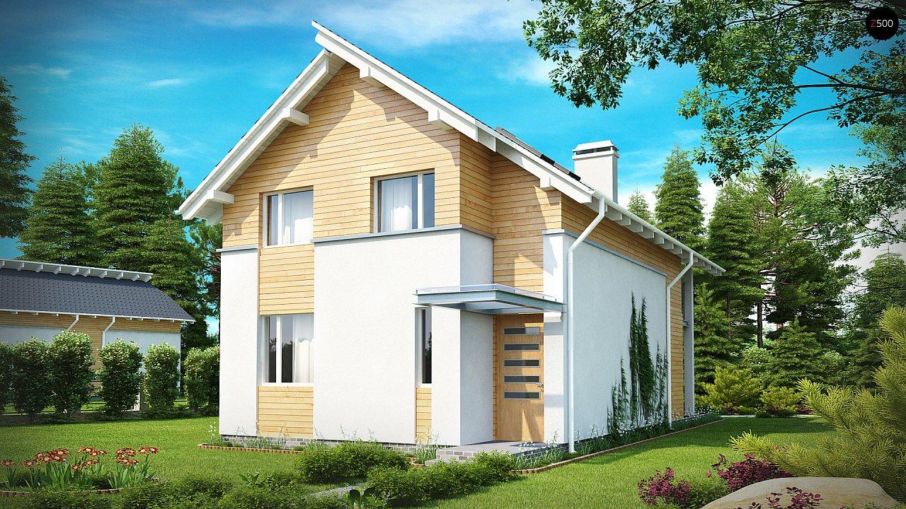 Энергоэффективный и удобный дом с современными элементами отделки фасадов. Подходит для узкого участка. - фото 2