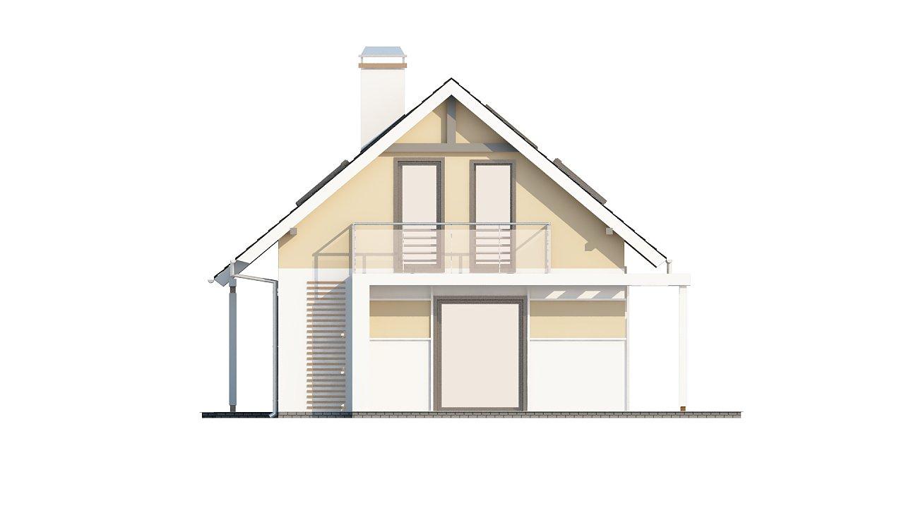 Экономичный в строительстве и реализации дом с удобной планировкой, с навесом для автомобиля. - фото 24