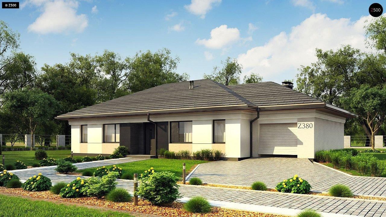 Прекрасный одноэтажный дом в современном стиле и гаражом на одну машину. - фото 2