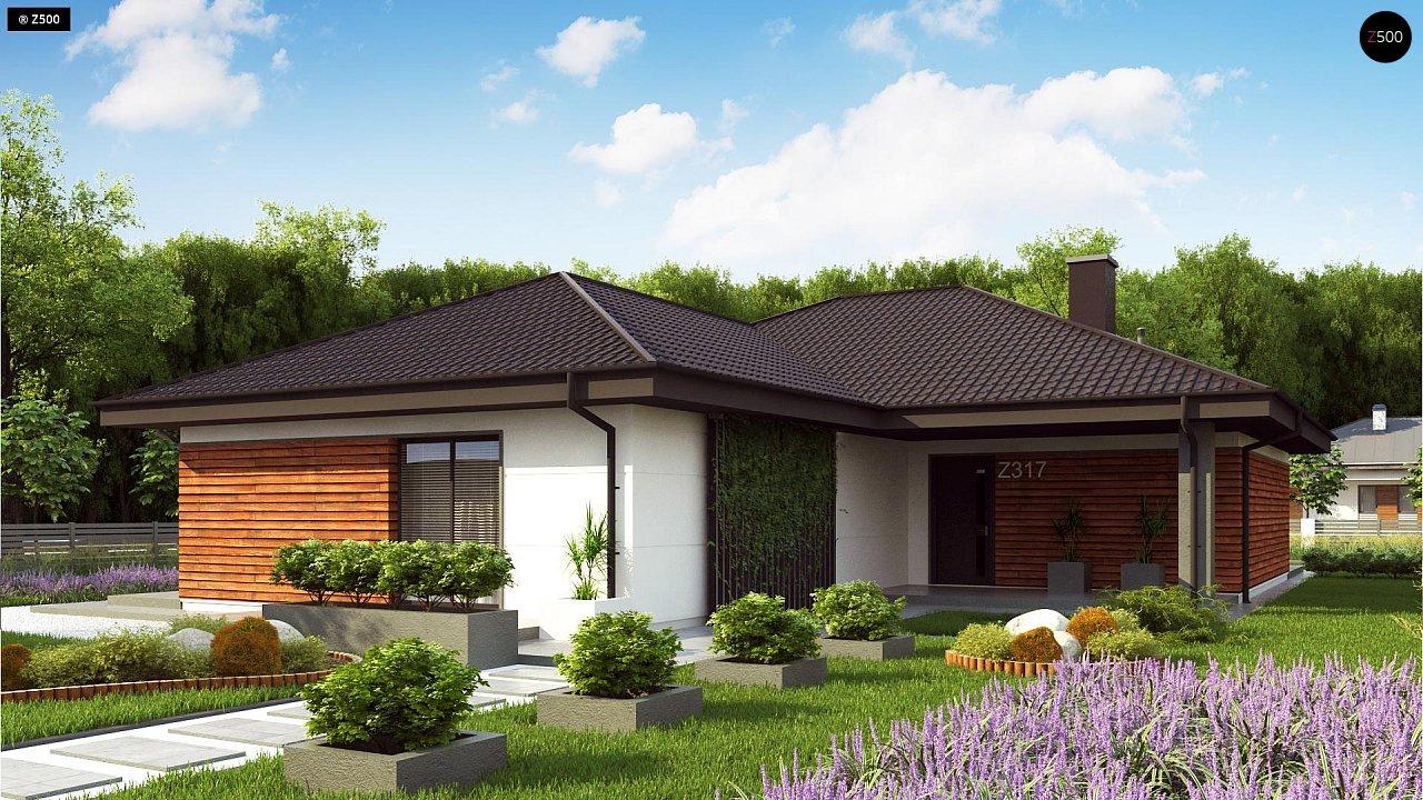 Проект комфортного и функционального одноэтажного дома. - фото 1
