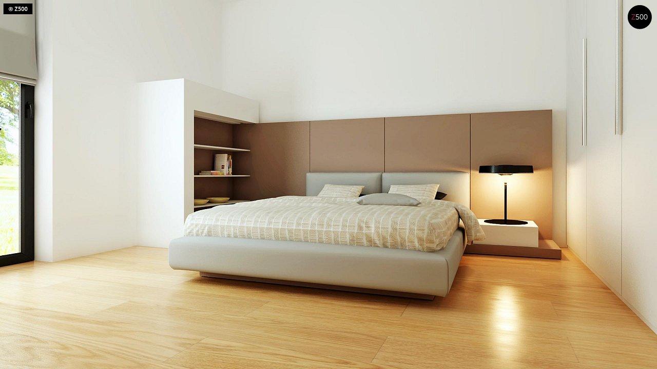 Современный комфортабельный одноэтажный дом с функциональным интерьером и уютной террасой. 14
