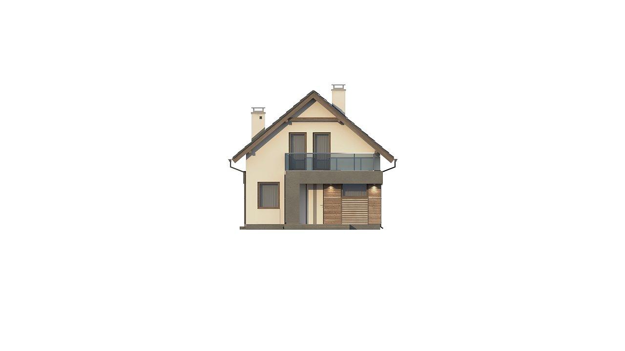 Компактный и удобный дом традиционной формы, подходящий, также, для узкого участка. 14