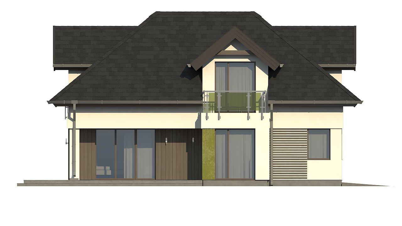 Комфортабельный дом с интересными фасадными окнами, с гаражом на два авто. 7