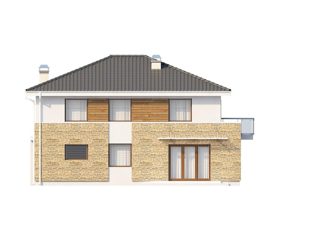 Просторный двухэтажный дом минималистичного современного дизайна. 8