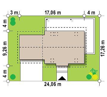 Аккуратный мансардный дом с гаражом для двух автомобилей план помещений 1