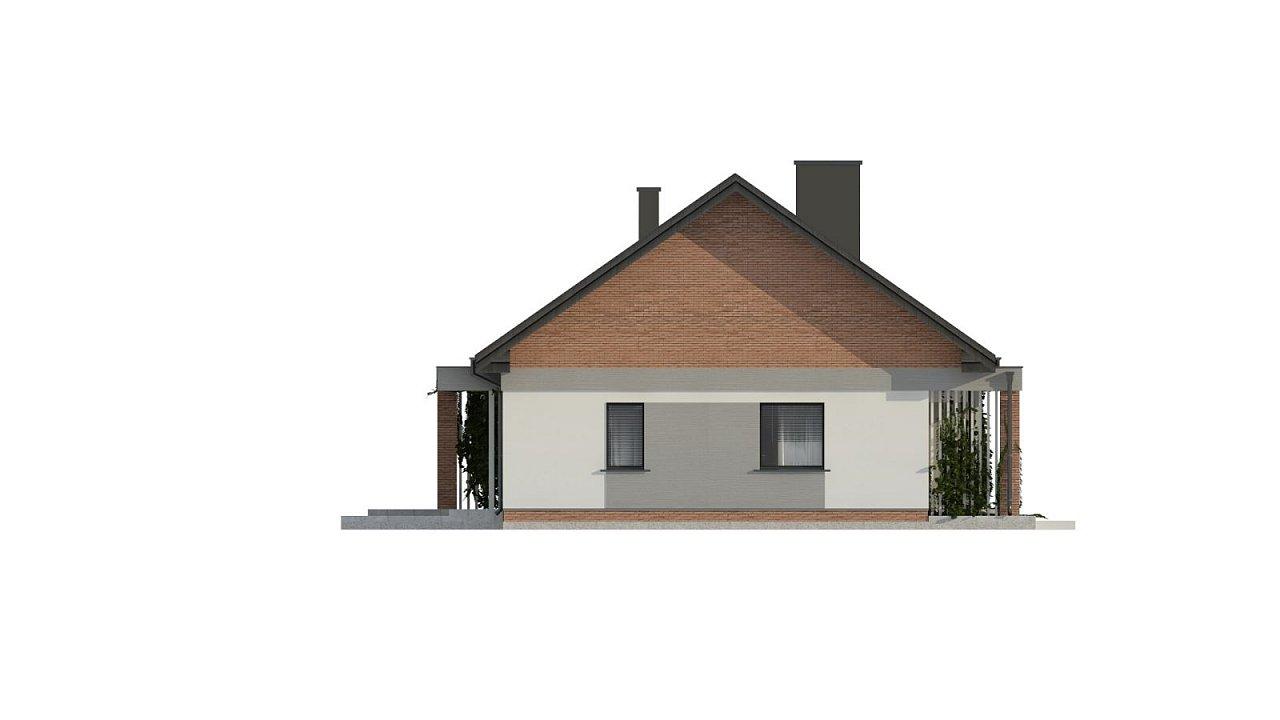 Уютный дом с двускатной кровлей и возможностью обустройства мансарды. 15