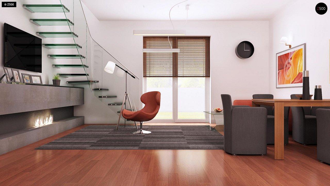 Компактный традиционный дом простой формы с двускатной крышей. 7