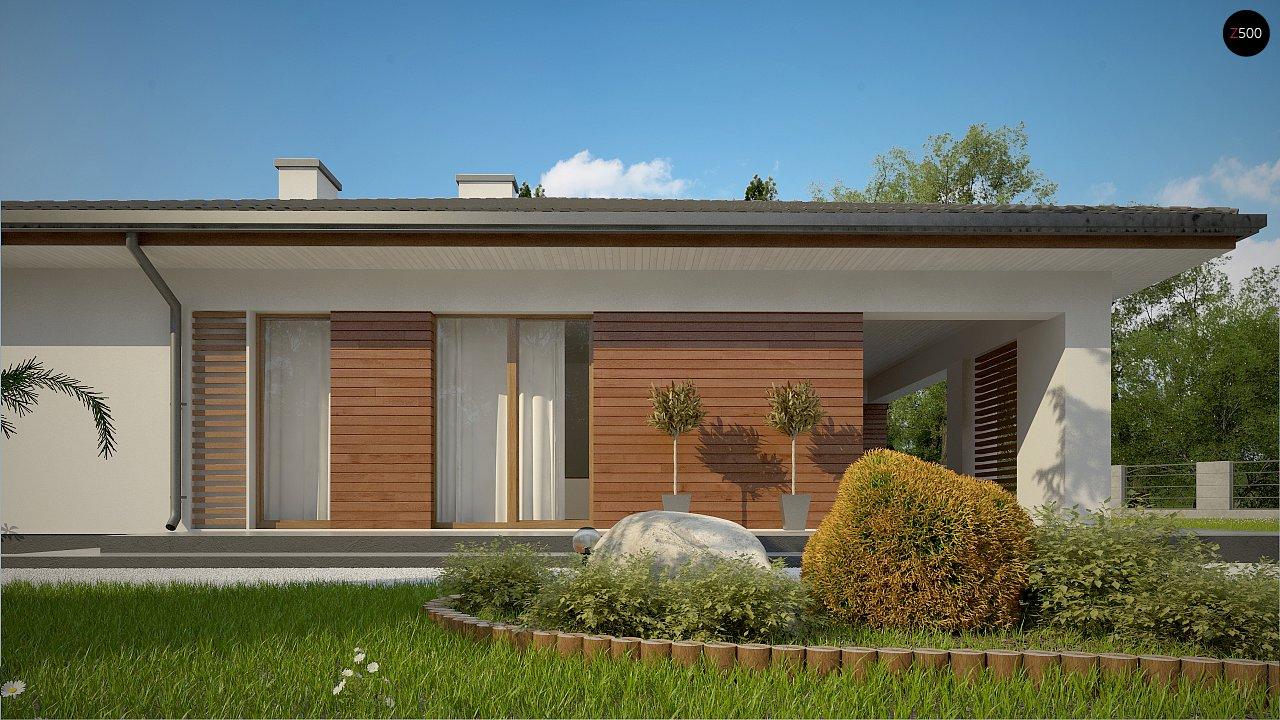 Стильный одноэтажный дом с комфортной крытой террасой 5