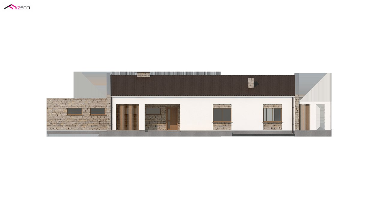 Проект для узкого участка без гаража с тремя спальнями 7