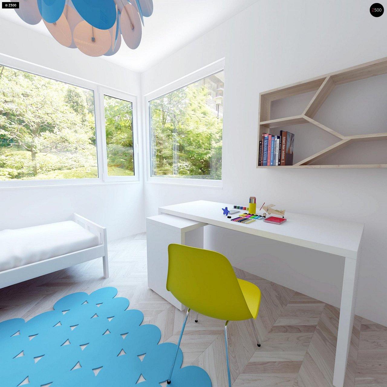 Проект компактного двухэтажного дома строгого современного стиля. 19