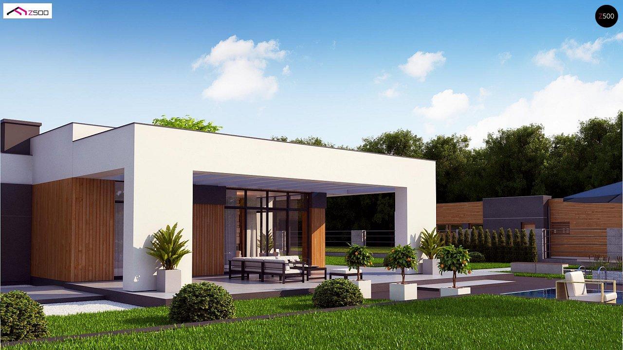 Проект стильного одноэтажного дома в современном стиле 5