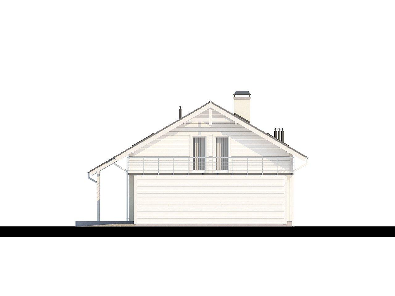 Дом со входом с южной стороны, с большой террасой на втором этаже. - фото 5
