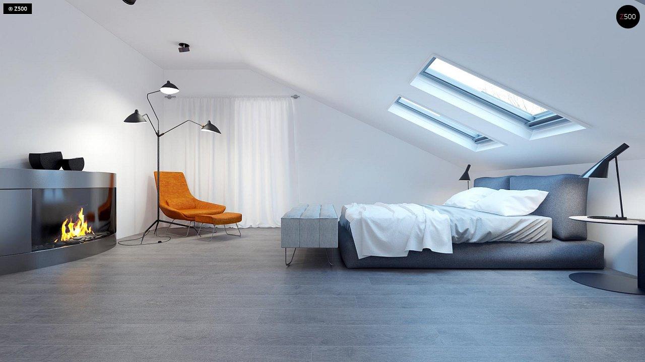 Проект функционального и удобного дома с комнатой над гаражом. 11