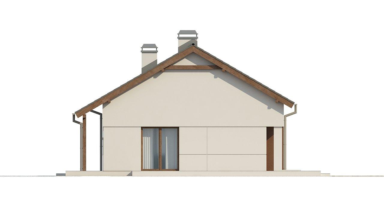 Компактный одноэтажный дом простой формы с возможностью обустройства чердачного помещения. 22