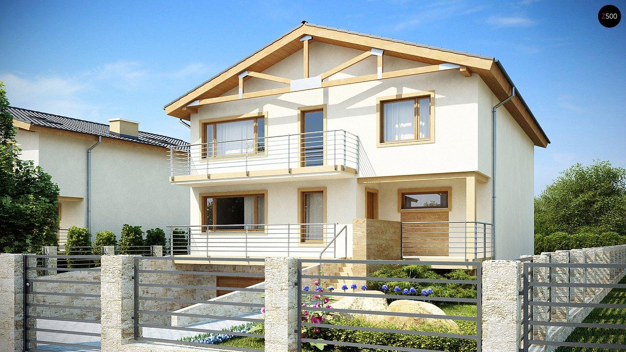 Проект выгодного и практичного двухэтажного дома с подвальным помещение, с дополнительной комнатой на первом этаже. - фото 1