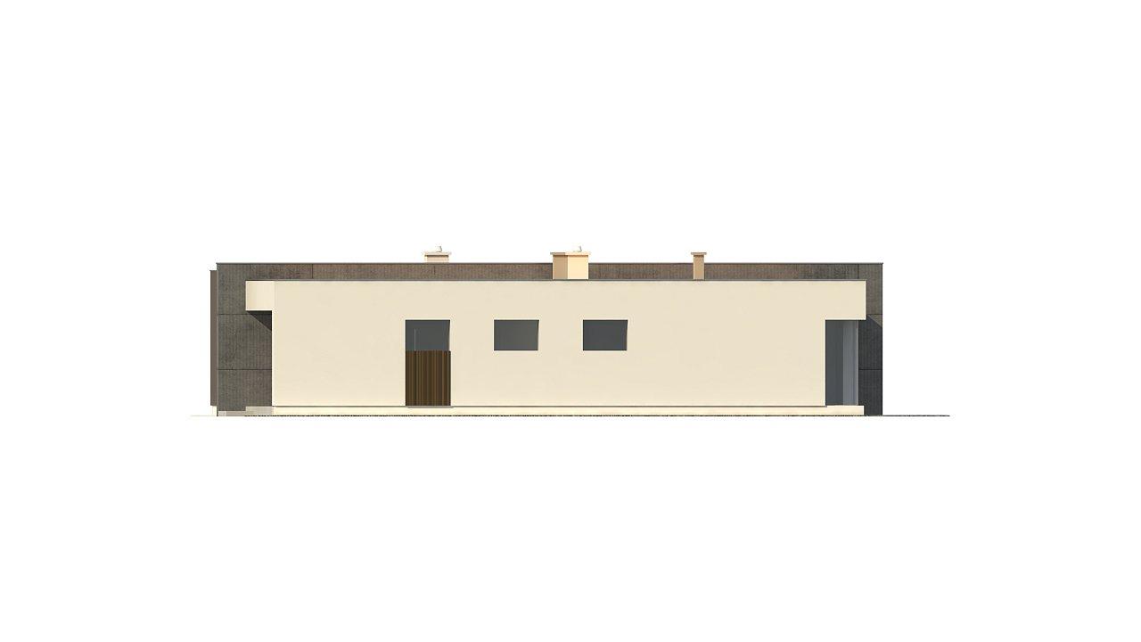 Подвариант одноэтажного дома Zx49 с гаражом для двух машин. 26