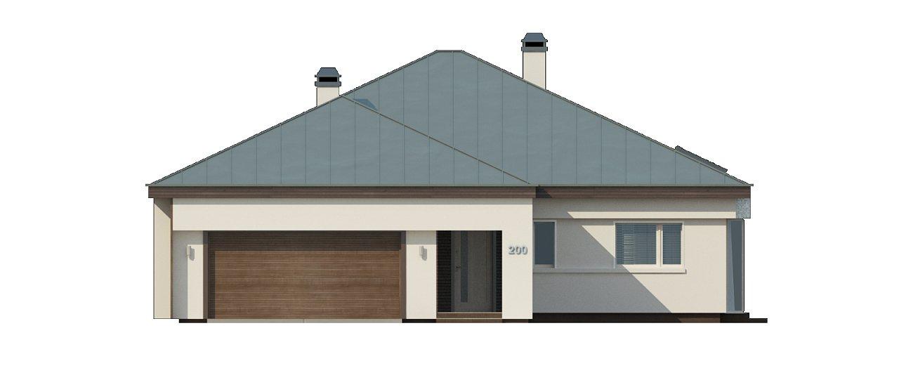Вариант проекта Z200 с кирпичной облицовкой фасадов. 25
