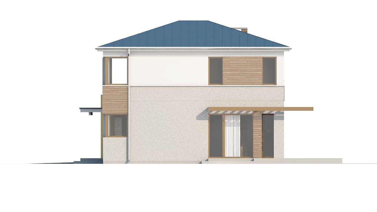 Двухэтажный дом, сочетающий традиционные формы и современный дизайн, с тремя спальнями и гаражом. 22