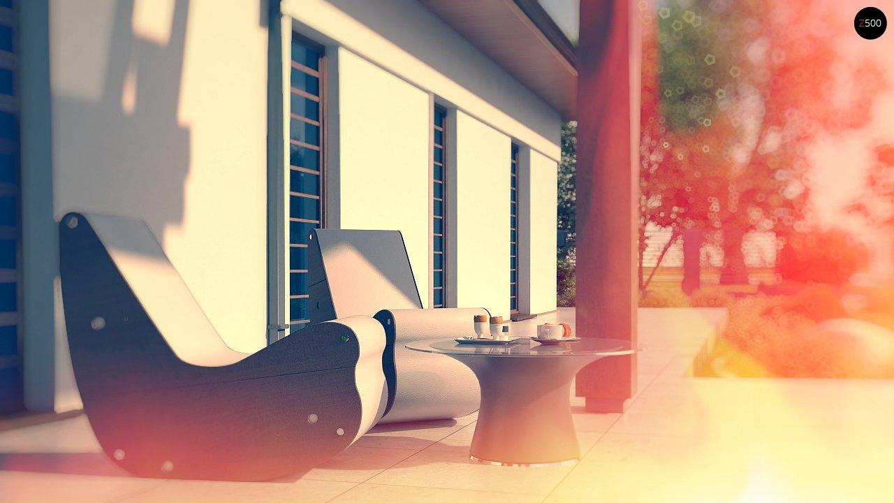 Удобный функциональный одноэтажный дом с гаражом для двух автомобилей. 3