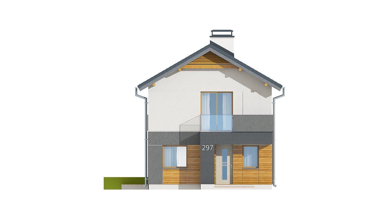 Небольшой двухэтажный дом с современными архитектурными элементами, подходящий для узкого участка. - фото 23