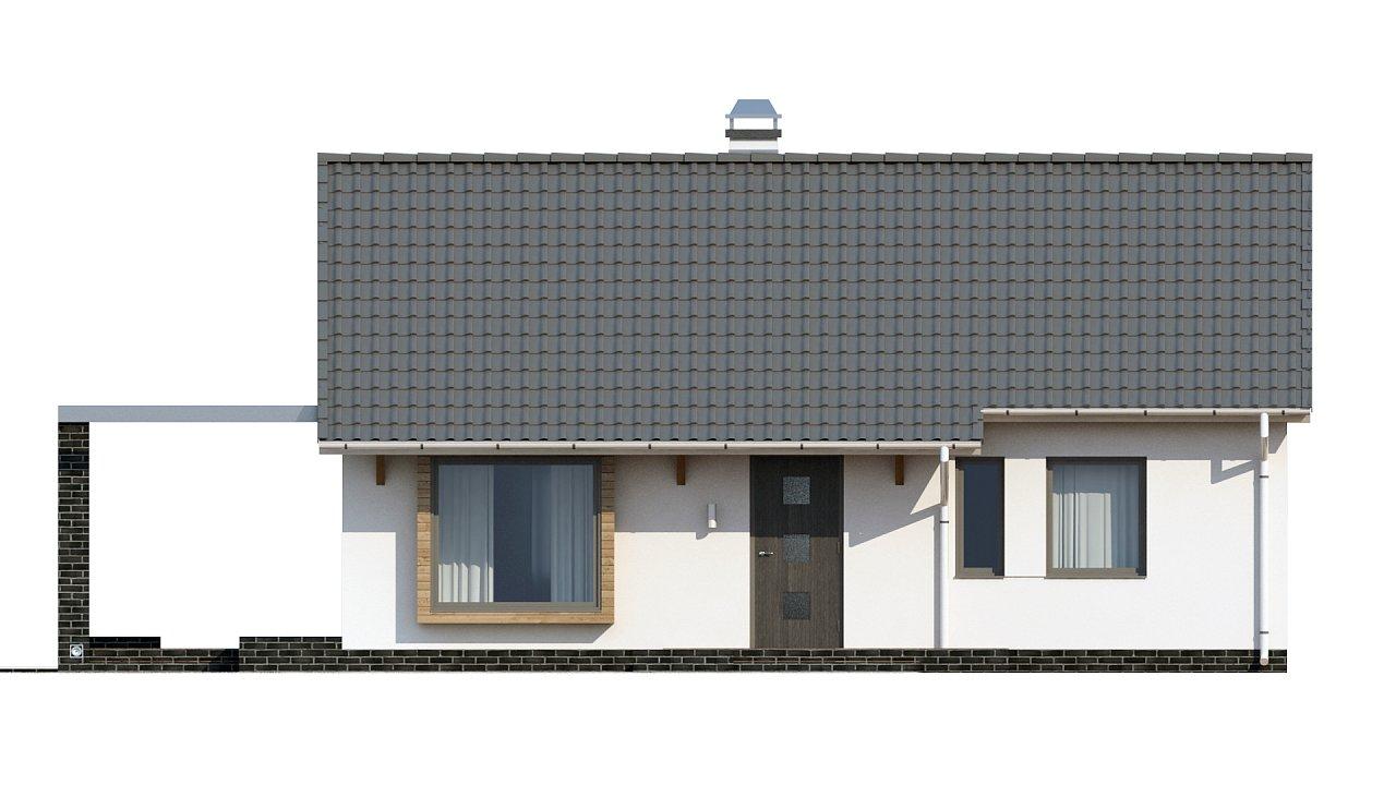 Маленький и функциональный одноэтажный дом, выгодный в строительстве и эксплуатации. - фото 10