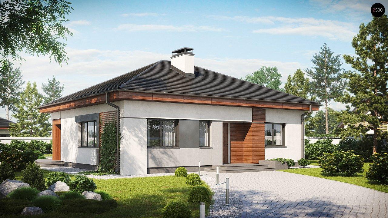 Проект стильного одноэтажного дома в классическом стиле. 1
