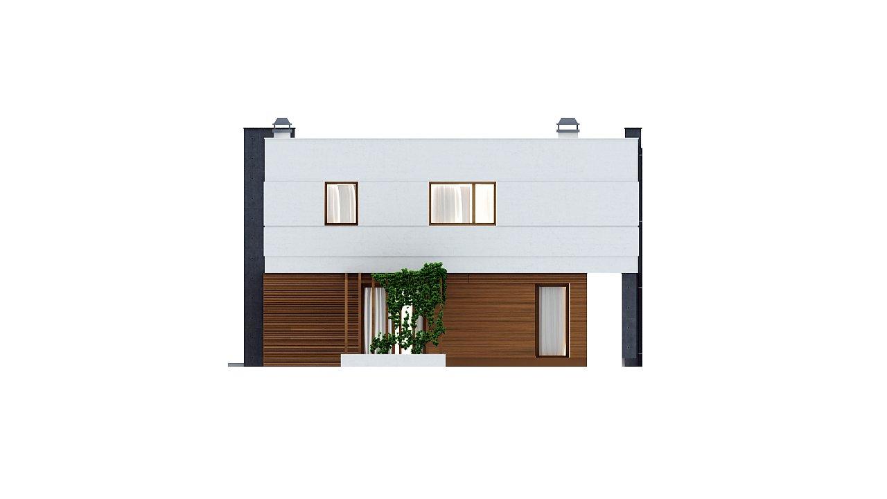 Комфортный современный дом с гаражом для двух авто и обширной террасой на втором этаже. - фото 22
