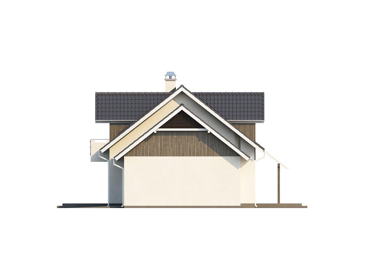 Просторный функциональный дом с гаражом, красивыми мансардными окнами и дополнительной спальней на первом этаже. - фото 6