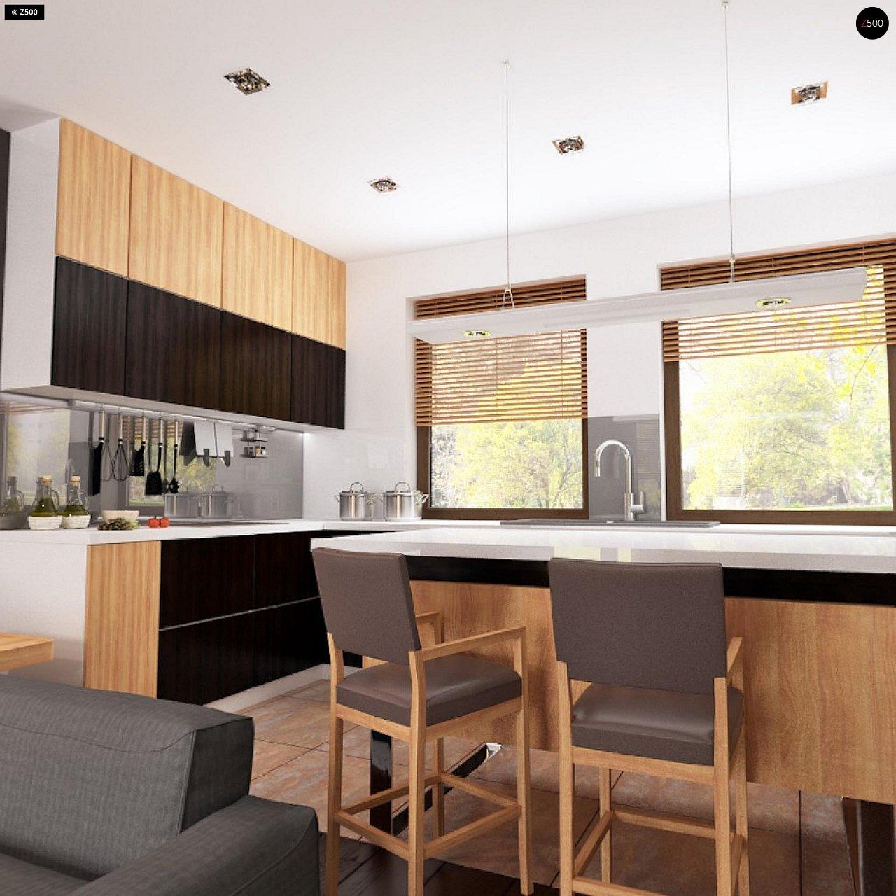 Проект небольшого практичного одноэтажного дома. Есть возможность обустройства чердачного помещения. 3