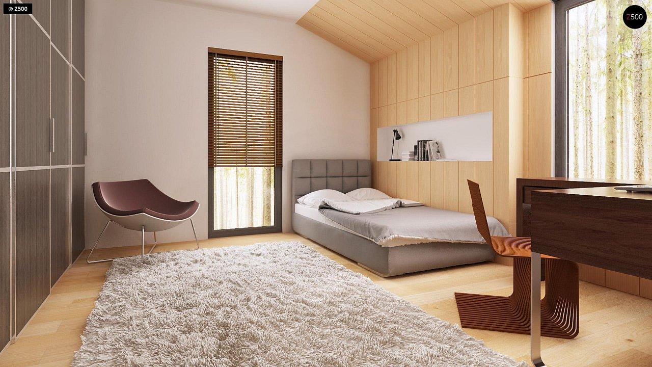 Современный эксклюзивный дом с каменной облицовкой, подходящий для узкого участка. 9