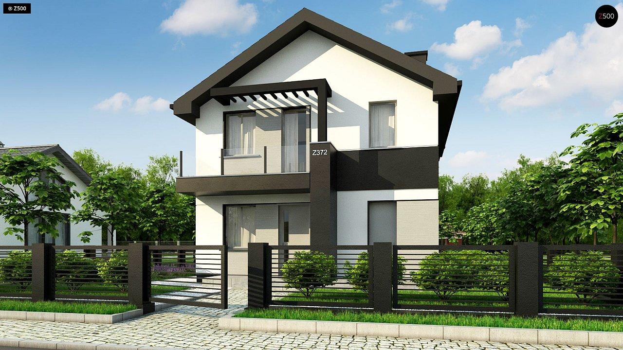 Компактный двухэтажный дом для узких участков. - фото 4
