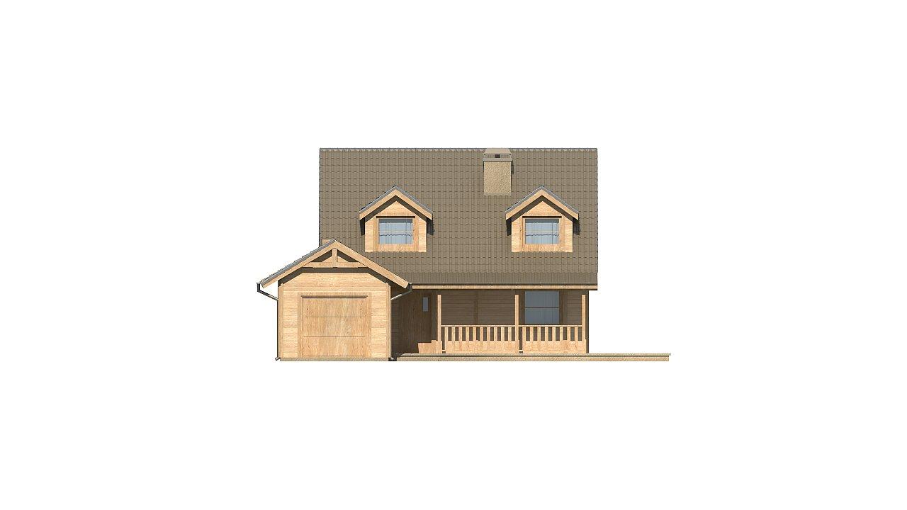 Вариант проекта Z39 c деревянными фасадами и гаражом расположенным с левой стороны. 13