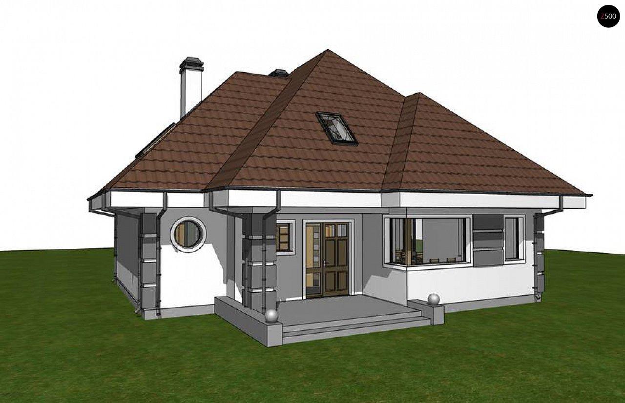 Вариант мансардного дома Z48 без гаража - фото 2