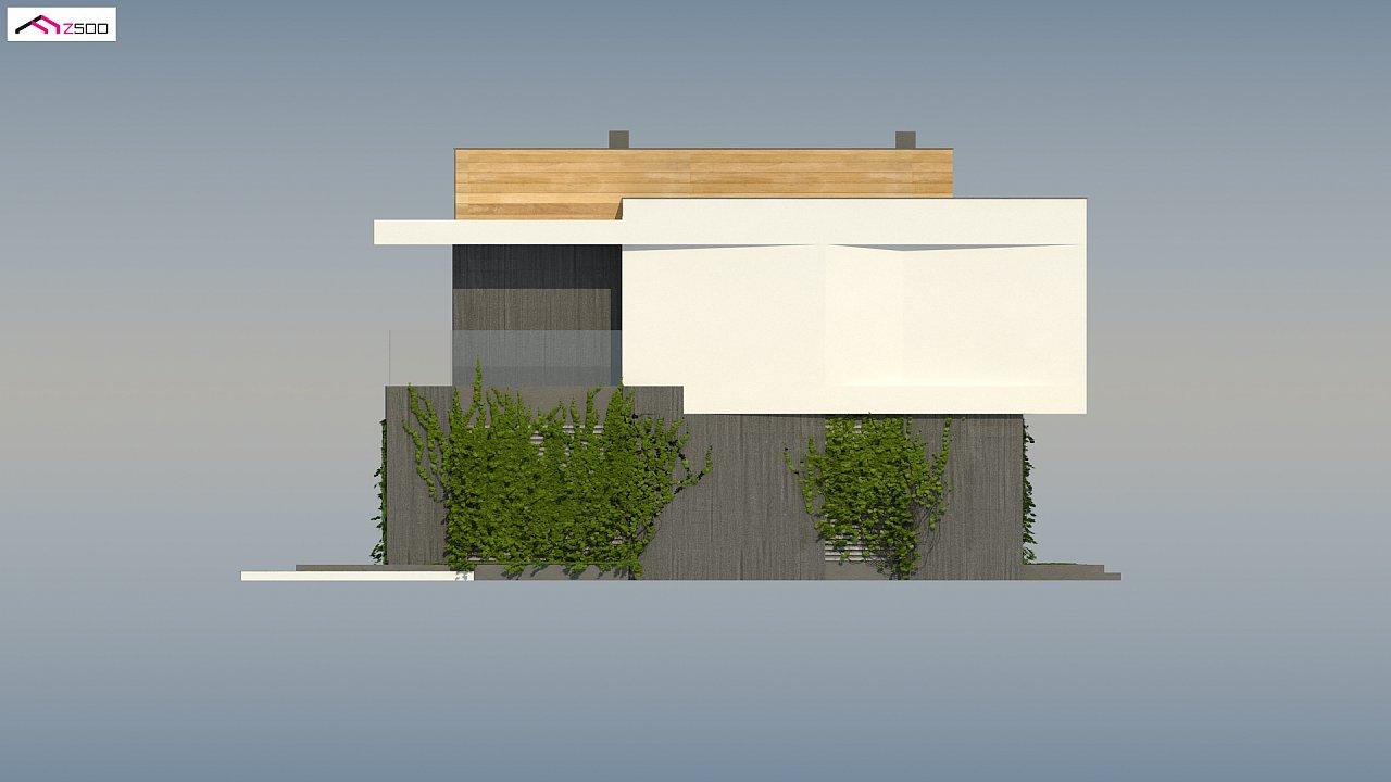 Проект двухэтажного дома в стиле кубизм, подходит для строительства на узком участке. - фото 9