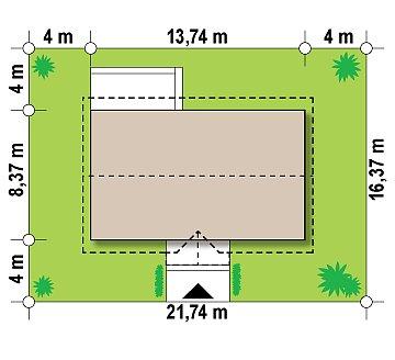 Аккуратный одноэтажный дом в классическом стиле. план помещений 1