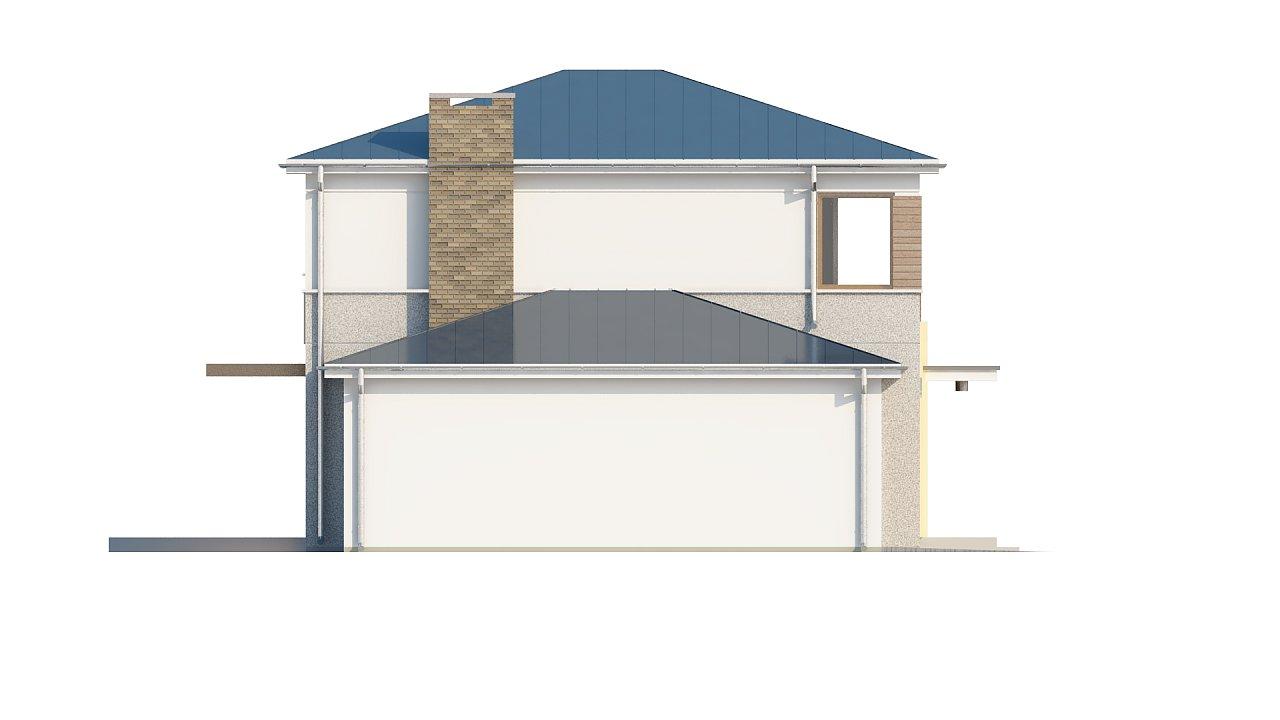 Двухэтажный дом, сочетающий традиционные формы и современный дизайн, с тремя спальнями и гаражом. 23