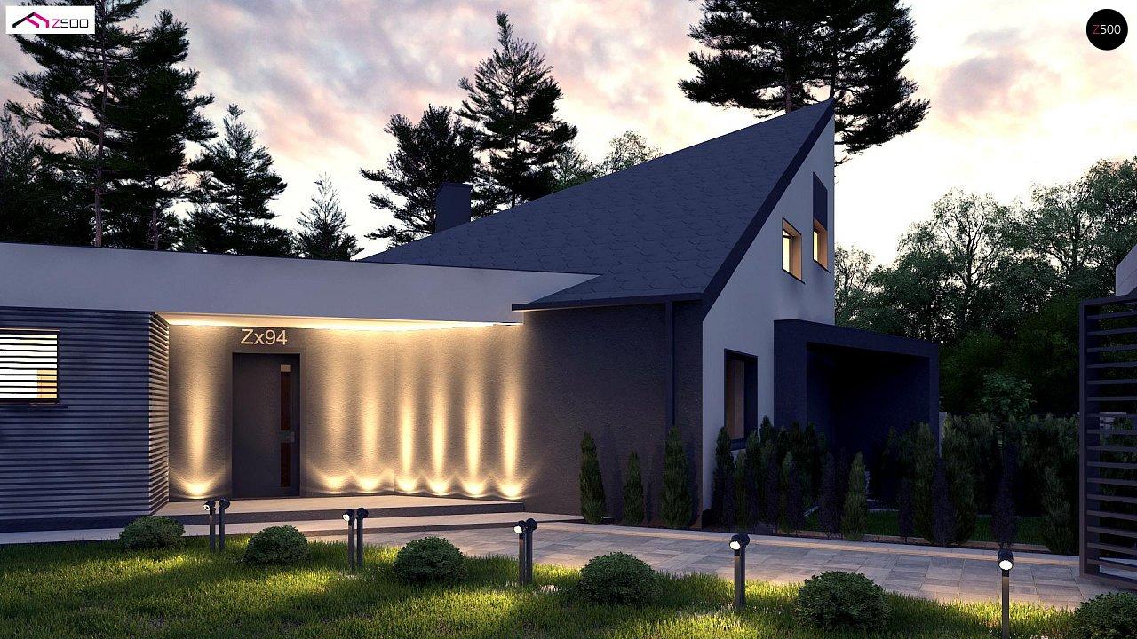 Проект современного дома с вторым светом, стильной кровлей и удобной планировкой. 1
