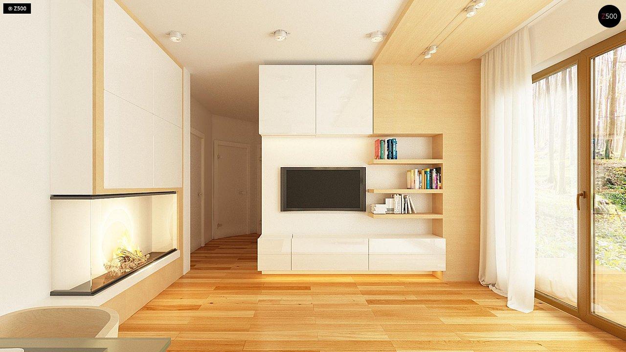Простой и недорогой в строительстве одноэтажный дом небольшой площади. 5