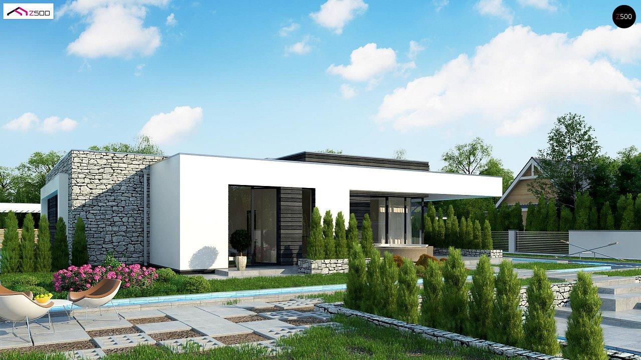 Современный одноэтажный дом с 3 спальнями и внутренним двориком 3
