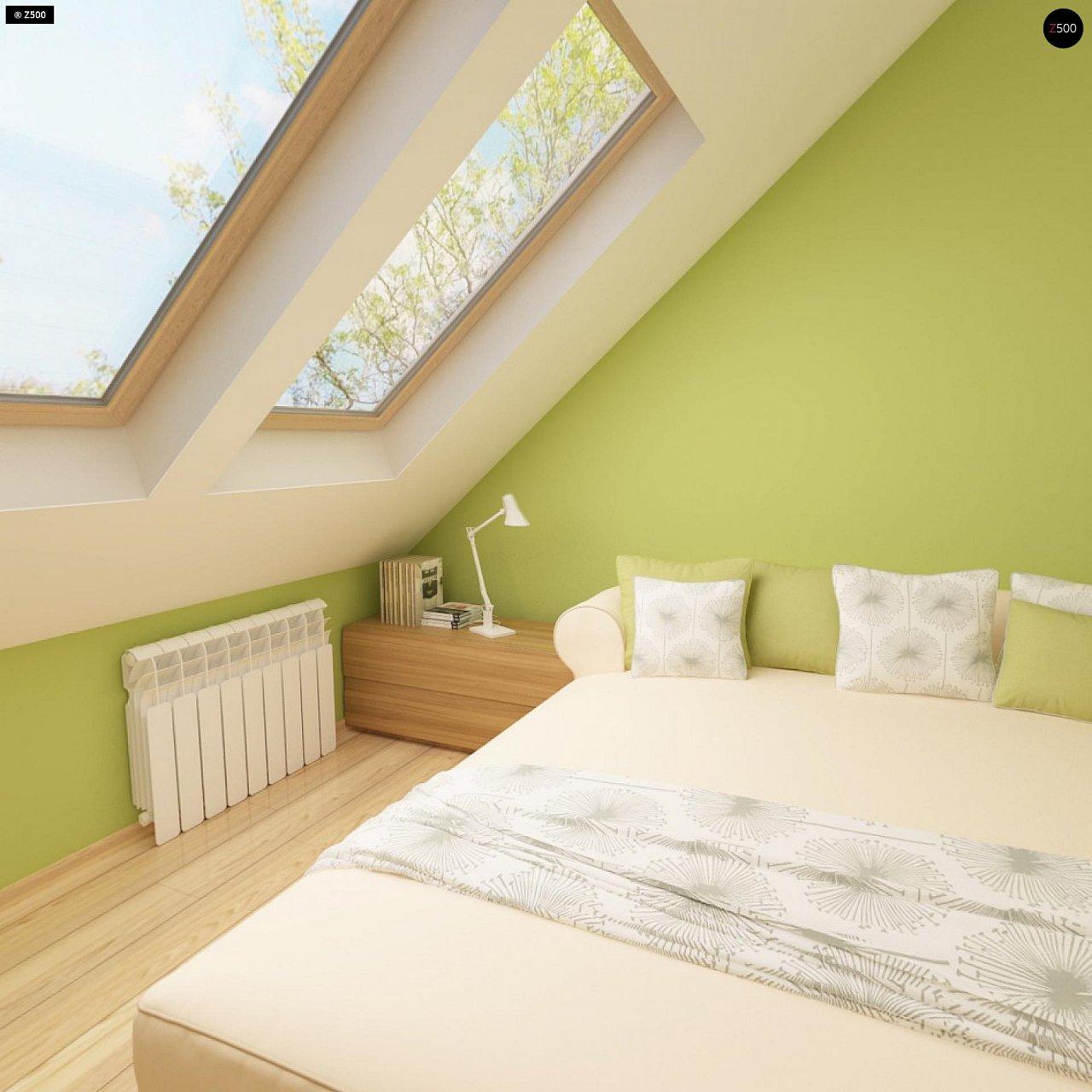 Выгодный и простой в строительстве дом с эркером в дневной зоне. 13
